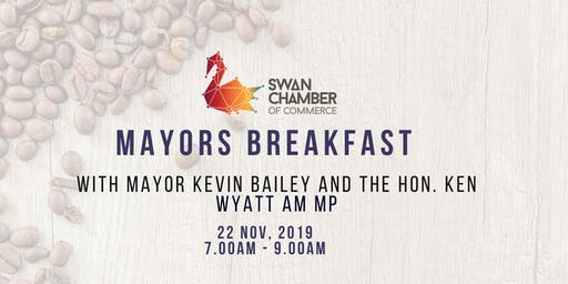 Mayors Breakfast with Mayor Kevin Bailey and The Hon. Ken Wyatt AM MP
