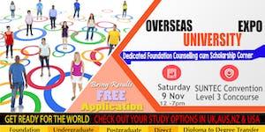 Overseas University Expo @ Suntec Sat 9 Nov Level 3...