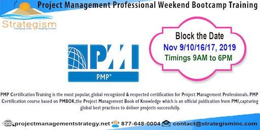 PMP weekend Bootcamp in Fremont-Nov-9,10,16,17-2019