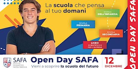 3° Open Day SAFA - La scuola che pensa al tuo domani biglietti