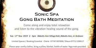 Sonic Spa Gong Bath Meditation - 22nd March 2020