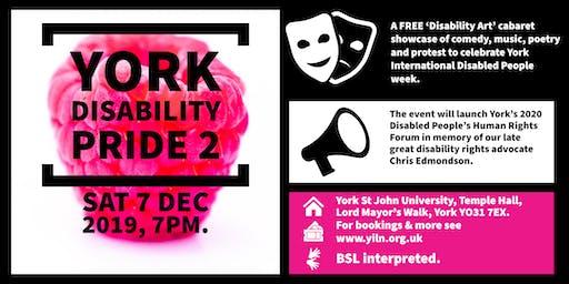 York Disability Pride Cabaret Night 2.