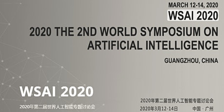 2nd World Symposium on Artificial Intelligence (WSAI 2020) tickets