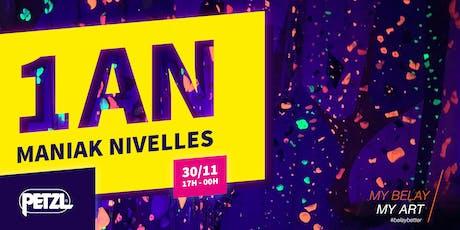 1 an Maniak Nivelles tickets