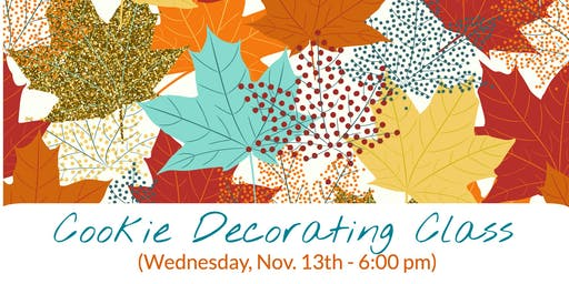 Fall/Thanksgiving Cookie Decorating Class