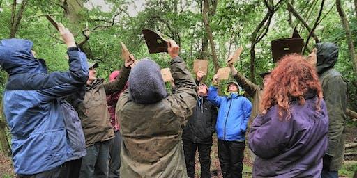 Leading Earthwalks Workshop at College Lake
