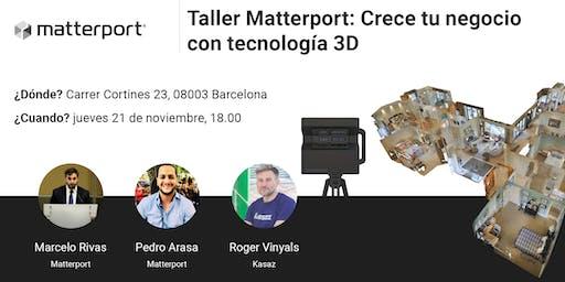 Taller Matterport: Crece tu negocio con tecnología 3D