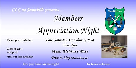 Shankill GAA Members' Appreciation Nights tickets