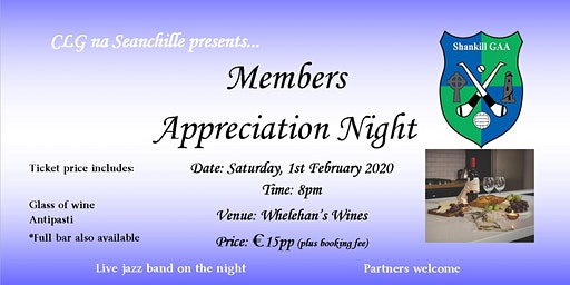 Shankill GAA Members' Appreciation Nights