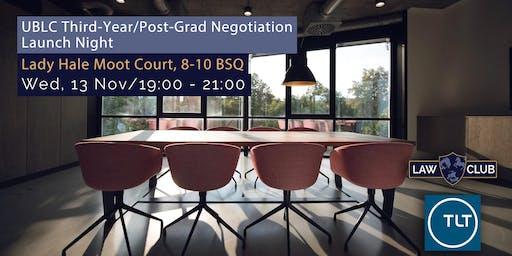 UBLC Third-Year/Post-Grad Negotiation Launch Night