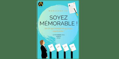 Soyez mémorable – Un CV qui marque et qui vous représente ! billets