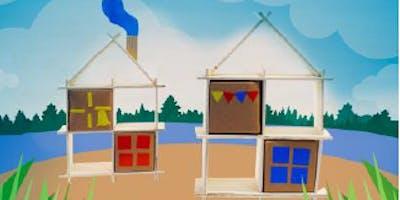 Atelier enfants (de 6 à 12 ans) L'étagère maisonnette en chutes de bois !