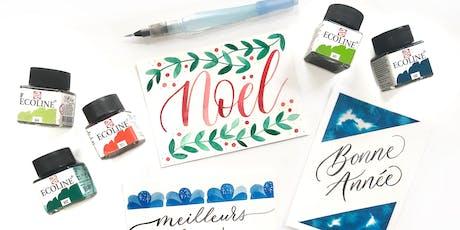 Atelier Brush Lettering Cartes de Voeux - PARIS 8/12 tickets