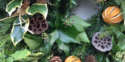 Wreath making workshop with afternoon tea