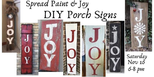 Porch Signs with Chalk Finish  Paint