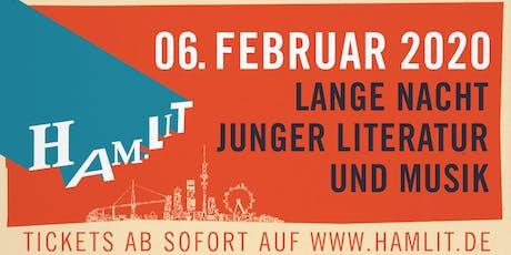 HAM.LIT 2020 - Lange Nacht junger Literatur und Musik in Hamburg Tickets