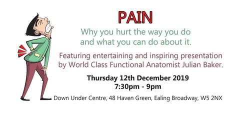 Pain: Why you hurt the way you do and what you can do about it tickets