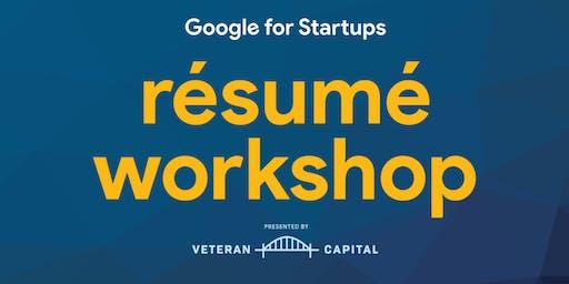 Google for Startups Resume Workshop at Fort Bragg