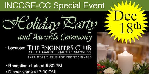 INCOSE Chesapeake Chapter  Holiday Party & Awards Ceremony