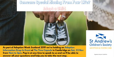 Adoption Information Drop-In Event, The Time Capsule, Coatbridge