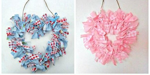 Craft Night - make a heart wreath in time for Valentine's Day