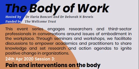The Body of Work: Pain and interventions on the body tickets