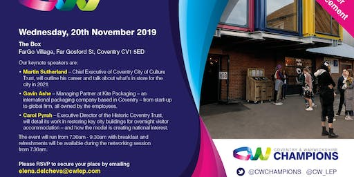 Coventry and Warwickshire Champions Event - November
