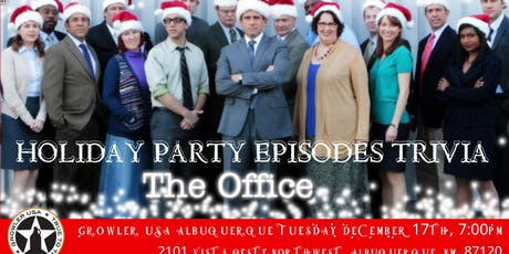The Office Holiday Party Episodes Trivia at Growler USA Albuquerque tickets