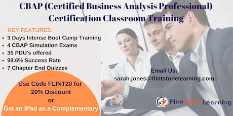 CBAP (Certified Business Analysis Professional) Certification Training In Plano, TX tickets