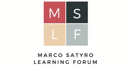 Marco Satyro Learning Forum - Shared Knowledge Sessions (Nov to Jan) tickets