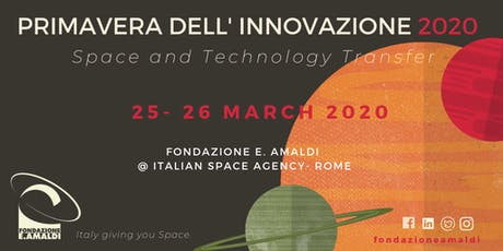 Primavera dell' Innovazione 2020 : Space & Technology Transfer tickets