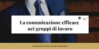 La Comunicazione Efficace nei gruppi di lavoro -WORKSHOP