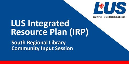 LUS Integrated Resource Plan Community Input Session