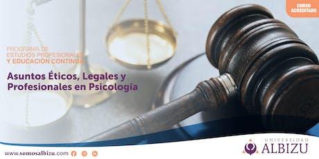 Asuntos Éticos, Legales y Profesionales en Psicología entradas