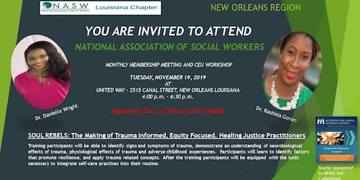 National Association of Social Workers-New Orleans Meeting and CEU Workshop