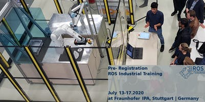 Pre-Registration for ROS-Industrial Training July 2020 (no ticket sale yet)