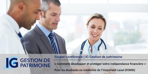 Souper-conférence | IG Gestion de patrimoine (Lundi 18-25 novembre)