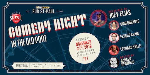 Comedy Night in the Old Port: Headlined by Joey Elias