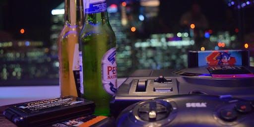 16-BIT SKY BAR: Sky High SEGA Retro Gaming, Karaoke & Cocktails, 500ft up!