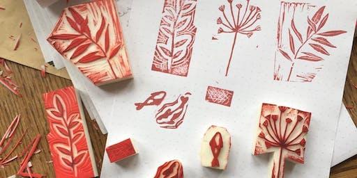 TOAST Edinburgh | Block Printed Christmas Wrapping Paper