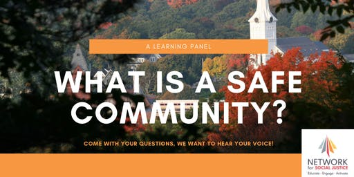 What is a Safe Community? A Learning Panel