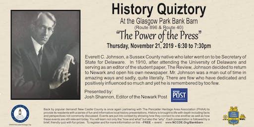 History Quiztory at The Bank Barn at Glasgow Park