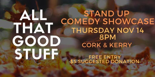 Nov. 14th Cork & Kerry Comedy Showcase