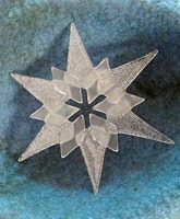 Fused Glass Snowflakes