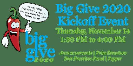 BIG GIVE 2020 Kickoff and Training!