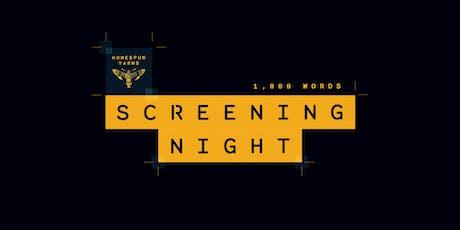 Homespun Yarns Screening Party 2019 – '1000 Words' tickets