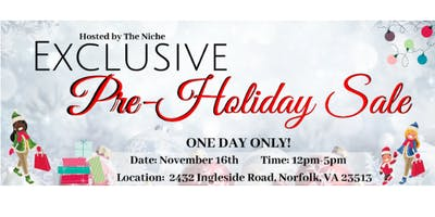 Pre-Holiday Sale at The Niche