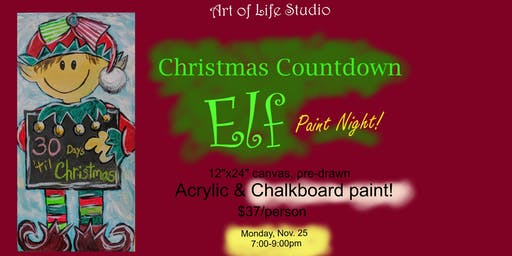 Paint Night: Christmas Countdown Elf