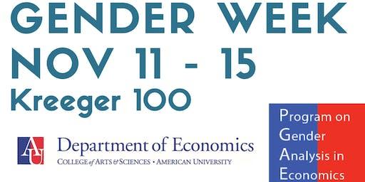 Gender & Economics Week