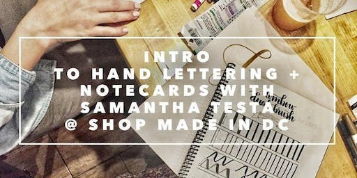 Intro to Hand Lettering with Samantha Testa